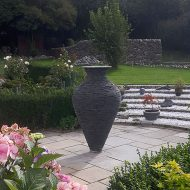 Large slate vase
