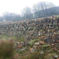 Dry stone march dyke