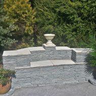 Drystone wall seat