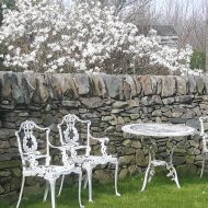 Drystone curved wall