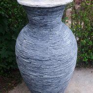 stacked slate vase