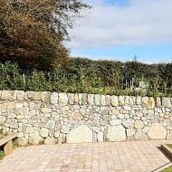 drystone garden wall