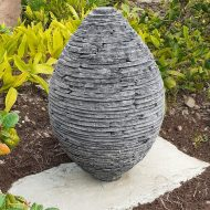 Slate Egg sculpture