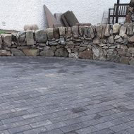 assymmetric dry stone wall