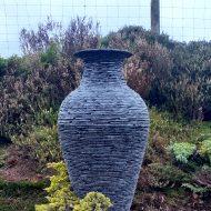 Vase slate sculpture