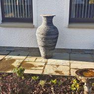 slate vase sculpture